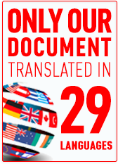 only our document translated in 29 languages