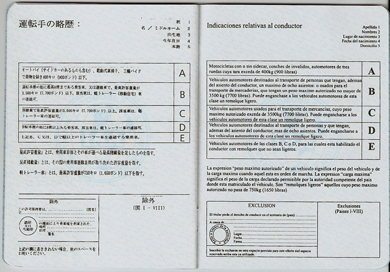 Unofficial International Driving Document (book, page 3)
