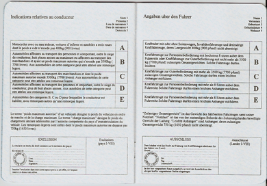 Unofficial International Driving Document (book, page 4)