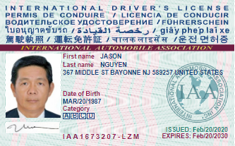 permis de conduire international de retour